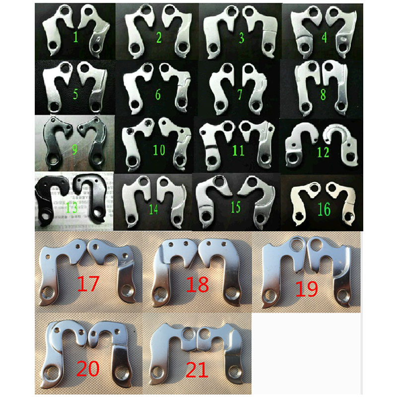Universal Number 1-21 Bike Alloy Rear Derailleur Hanger MTB Road Bicycle Racing Cycling Mountain Frame Gear Tail Hook Parts(China (Mainland))