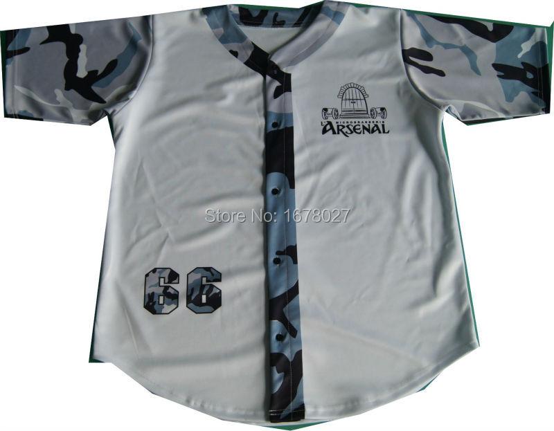 Fashion all over printing custom baseball jerseys(China (Mainland))