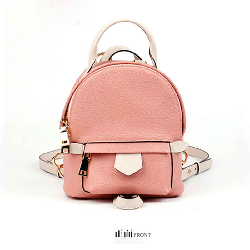 2016 new fashion women bag Leather MINI PINK women messenger bags Soft leather shoulder bags(China (Mainland))