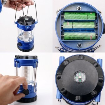 Portable 12 LED Adjustable Bivouac Light Built-in Compass Tent Camping Light Lamp,Hike Boating Fishing led light, Free Shipping
