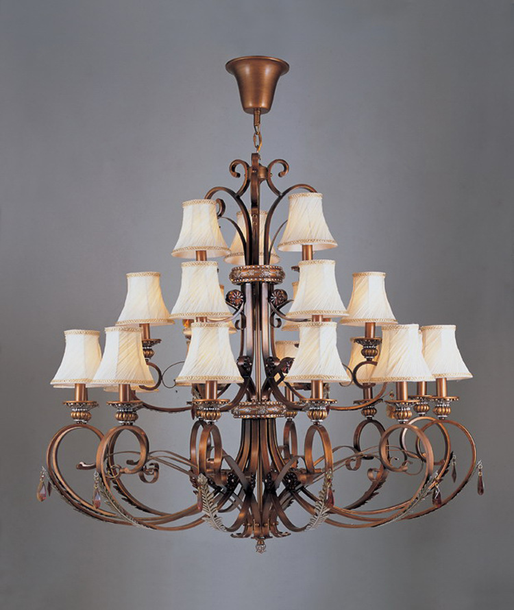 Hotel Iron Works hall chandelier chandelier 21 a generation of fat 051-12 + 6 + 3 led lamp(China (Mainland))