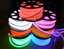 50 Meters Led neon flexible tube White/warm white/Yellow/ red/ green/Orange/Blue 220/110V lantern flexible neon light(China (Mainland))