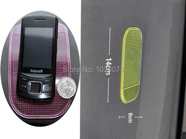 5pcs/lot Car Magic Grip Sticky Pad Anti Slide Dash Cell Phone Holder Non Slip Mat Clear Car Styling(China (Mainland))