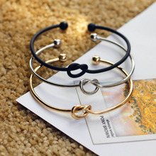 Original design very simple about pure copper casting love knot knot open metal bangle font b