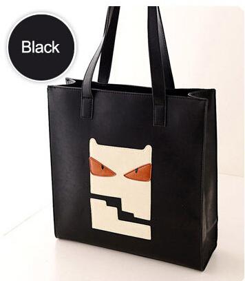 2015 Korea Style PU Leather Women Handbags Lady Black Shoulder Shopping Bag Female Large Tote Bags bolsa feminina - Sherman len's store