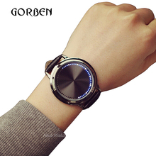 Buy 2017 Fashion Casual Mens Watches Leather Touch screen LED Women's Sports watches Mens Bracelet watches gift relogio masculino for $11.04 in AliExpress store