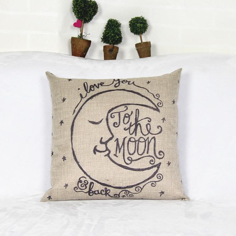 Amazon AliExpress my moon synthetic linen pillow sofa cushions car lumbar pillow cover cojines(China (Mainland))