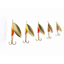 Hot 1PC 1#-5# Vissen Giant Killer Plain Mepps Fishing Lure Hard Spoon With Sharped Terble Hook Souple Peche Tackle(China (Mainland))