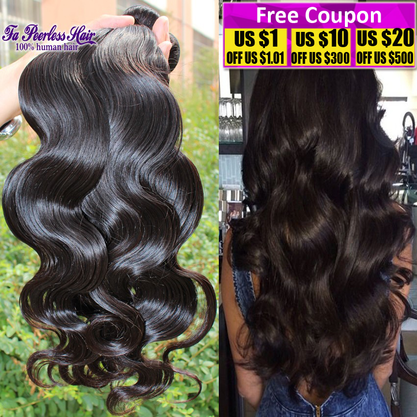 Queen Hair Product Peruvian Body Wave 4 Bundles Unprocessed 7A Peruvian Virgin Hair Body Wave Cheap 100% Human Hair Bundles 100G(China (Mainland))