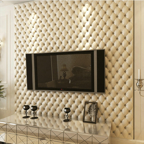 Luxurious imitation leather soft bag wall paper super 3d wall panels modern cellophane roll(China (Mainland))