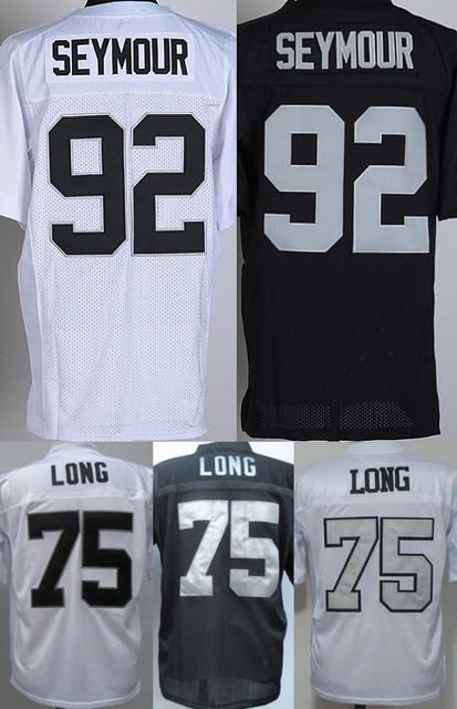 men's Authentic #92 Richard Seymour 75 Howie Long jersey Football Jersey