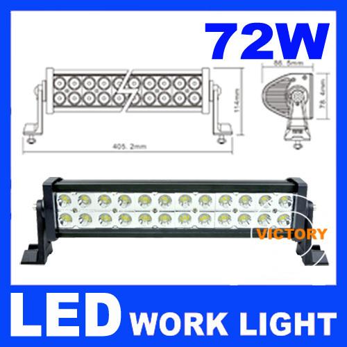 6 Volt Led Tractor Lights : W v volt led work flood light bar wide beam