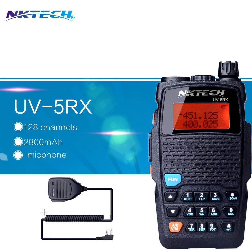 Walkie Talkie NKTECH UV-5X VHF UHF Tri-Power 8W 4W 1W Two-Way Radio Walkie Talkie BaoFeng and 1pcs Speaker Microphone(China (Mainland))
