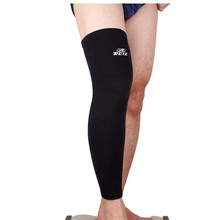 Elastic Sports Leg Knee Support Brace Wrap Protector Knee Pads Sleeve Cap Patella Guard Volleyball Long Knee – Black – 1PCS