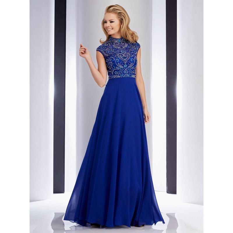 Formal Dresses In Memphis Tn: Dramatic Royal Blue Prom Dresses 2016 High Neck Short