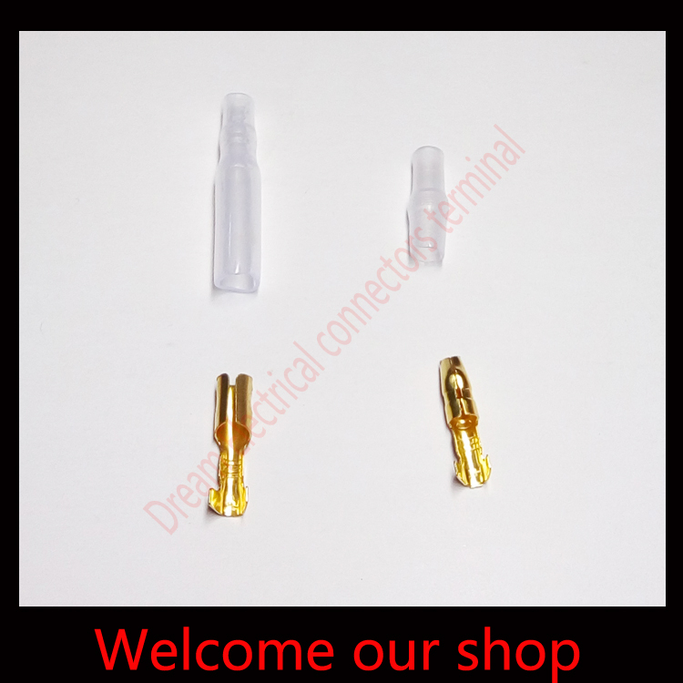 Car Auto Truck 100 Sets Bullet 4mm Connector Terminal Male & Female Waterproof Jacket + Insulation Cover(China (Mainland))