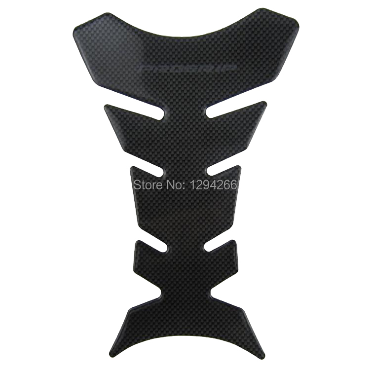 1pcs Free Shipping Applied Gas Fuel Oil Sticker Decal Tank Pad Protector for Motorcycle Bla vVF8(China (Mainland))