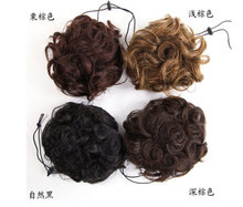 Free shopping Human hair bun Chignons hair extension  clip in Chignon hair pieces Curly hair buns