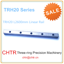 High Precision Low Manufacturer Price 1pc TRH20 Length 2600mm Linear Guide Rail Linear Guideway for CNC Machiner