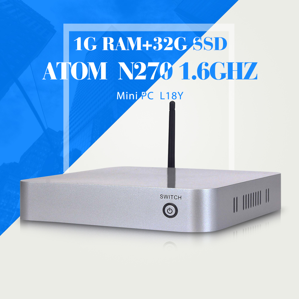 High Performance INTEL ATOM N270 1g ram factory desktop computer thin client with hdmi fanless diy computer mini pc thin client
