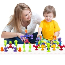 30pcs/lot Soft building block Sucker child early education toys Infant Intellectual development Creative Toys Gifts for kids(China (Mainland))