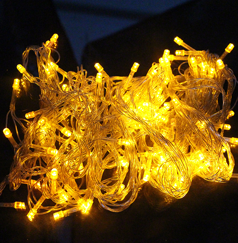 10M 100 LED Strip Light Home Outdoor Holiday Christmas Decorative Wedding xmas String Fairy Garlands Strip Party Lights zk90(China (Mainland))