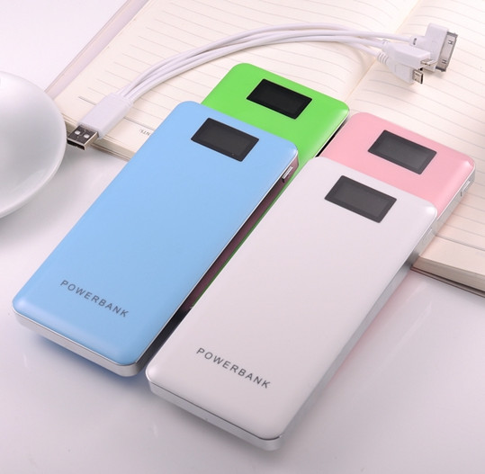2016 new product 12000mAh HS-20000A with screen useful power bank for game machine, mobile phone,MP3 MP4 players, cameras(China (Mainland))