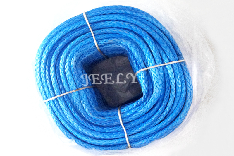 Free shipping 500M 5500LB UHMWPE braid winch line extreme strong 5mm 12 strand(China (Mainland))