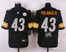 Signature Edition 100% Elite men Pittsburgh Steelers 43 Troy Polamalu(China (Mainland))