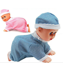 Cute Baby Doll Toy For Kids Brinquedos Clever Baby Laugh Music Dance Learn Crawl Funny Toys P4PM(China (Mainland))