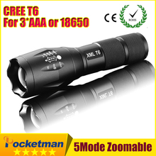 CREE LED Flashlight Torch – E17 CREE XM-L T6 3800Lumens –  requires 3xAAA or 1×18650