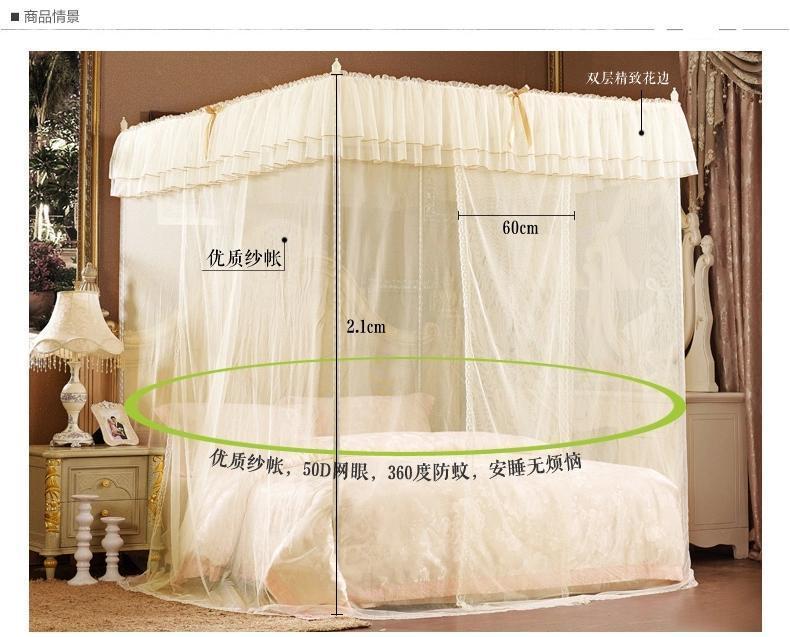 sans cadre princesse moustiquaire pour lit rideaux palais de couchage rideau trois portes