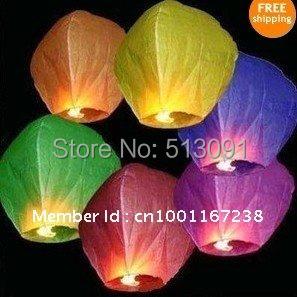 Wholesale free shipping 100pcs/lot Sky Lanterns,Wishing Lantern fire balloon Chinese Kongming lantern Wishing Lamp for Wedding(China (Mainland))