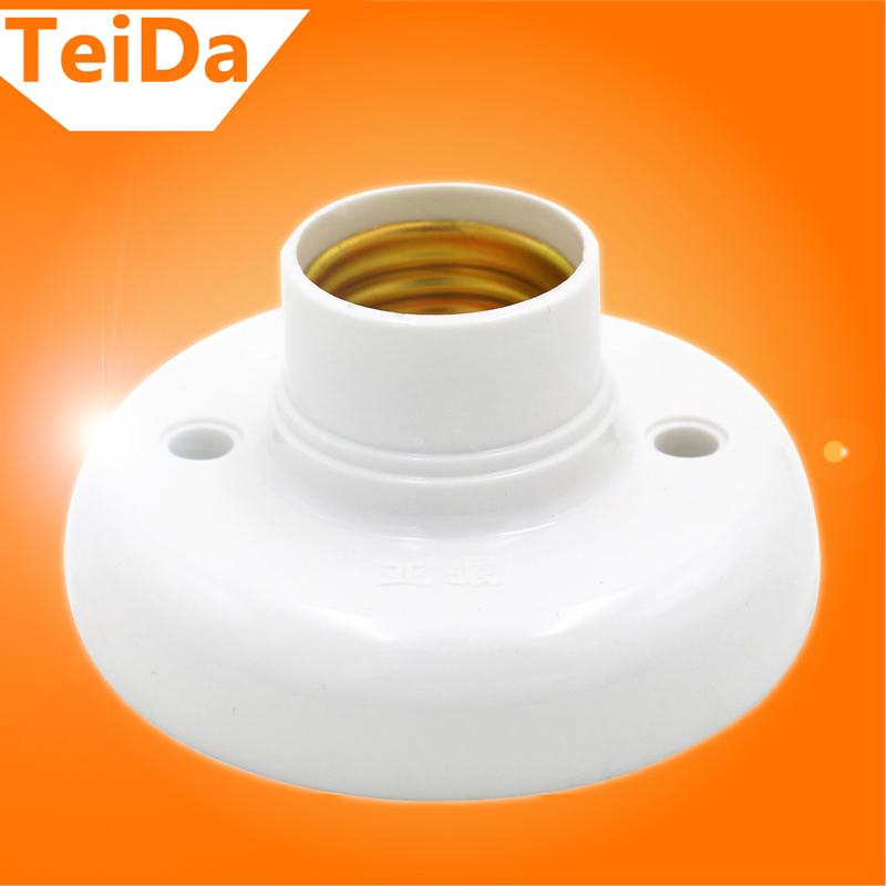 New Arrival E27 Socket Lamp Base Holder Bulb Adapter Round Screw LED Light Fixing Fitting Socket Connector Excellent Quality(China (Mainland))
