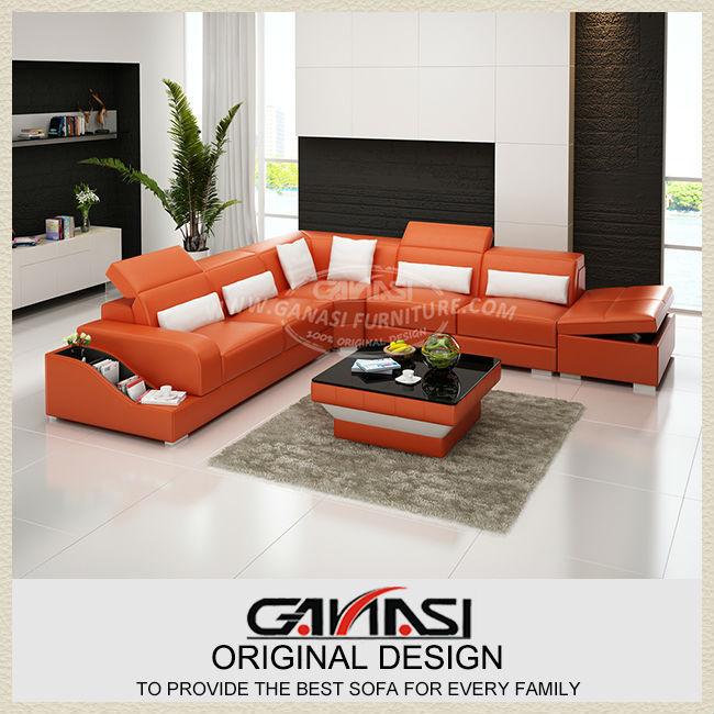GANASI sofa set designs,sofa set designs and prices,u shape leather sectional sofas(China (Mainland))
