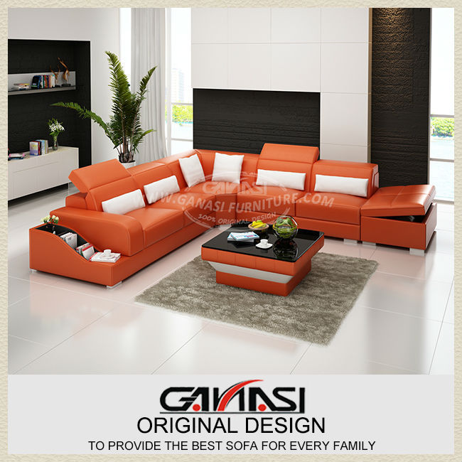 GANASI sofa set designs,sofa set designs and prices,u shape leather sectional sofas(China (Mainland))