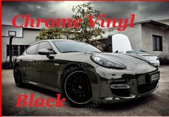 2015 new Wholesale Price High quality Black Mirror chrome Vehicle Wrap Vinyl car sticker 1.52m*30m free shipping(China (Mainland))