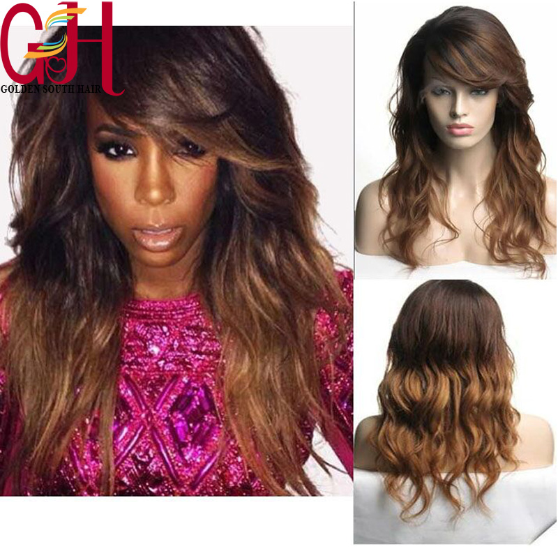 Здесь можно купить  Factory price100 human hair lace front wigs african american  two tone #1B/#33 ombre lace wigs with side parts 130% density  Волосы и аксессуары