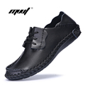 Spring Fashion New Men genuine Leather Shoes Rubber Soles Casual shoes high Quality Leather Flats Mens