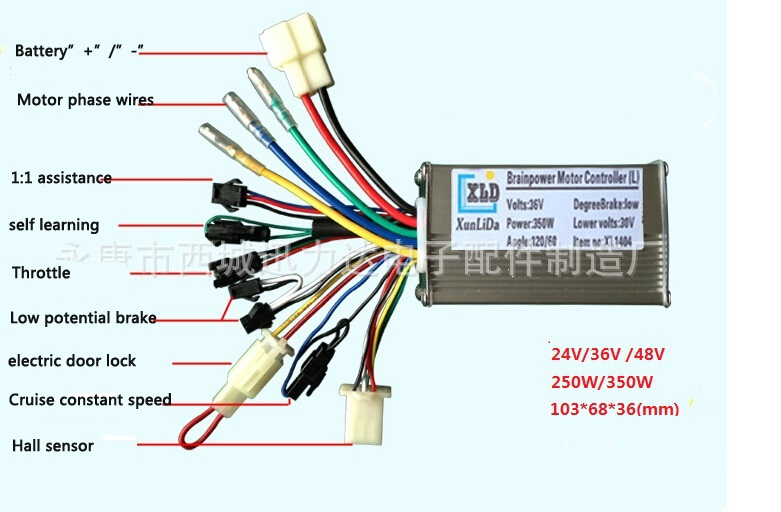 E Bike Brushless 36 Volt Controller Wiring Diagram Free