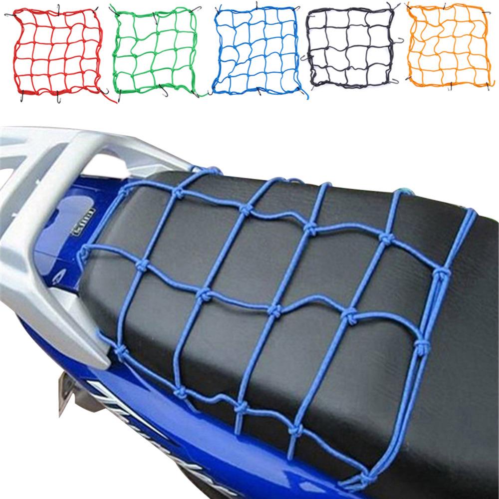 40*40cm Motorcycle Bike 6 Hooks Hold Down Fuel Tank Luggage Net Mesh Web Bungee Black Helmet Mesh(China (Mainland))