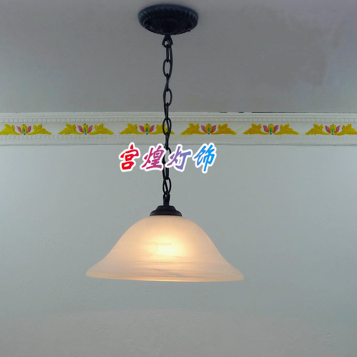 Restaurant lamp kitchen lamp table lamp brief modern personalized pendant light entrance lights cap large glass lamp(China (Mainland))