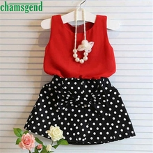 Buy CHAMSGEND Summer Kids Cute Baby Girls Vest Pleated Dress Two Pieces Set Clothes Children Skirt Suit Jan7 S25 for $3.55 in AliExpress store