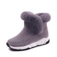 Kadın yarım çizmeler 2019 moda yüksekliği artan sıcak kış ayakkabı akın kadın kar botları platformu kadın çizmeler botas de mujer(China)