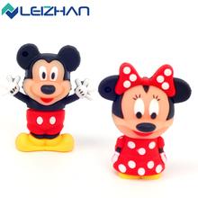 Cute Mickey and Minnie Shape USB Flash Drive 4gb 8gb 16gb 32gb 64gb Usb disk  USB 2.0 pen drive Memory Stick pendrive U Disk(China (Mainland))