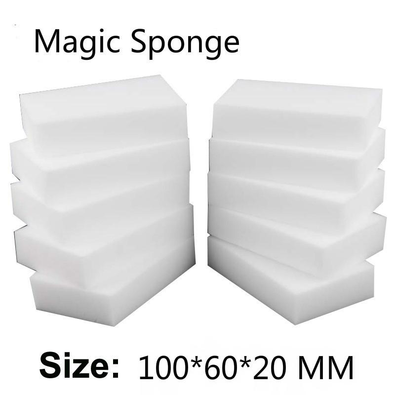 Premium grade 10*6*2cm 100 pcs Kitchen Magic Sponge Melamine Eraser rub Cleaning dishes accessory Melamin wholesale supplier(China (Mainland))