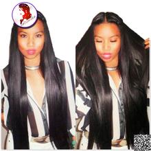 8A Grade Silk Base Wig 4x4 Silk Top Full Lace Wigs 180% Density Silky Straight Brazilian Virgin Human Hair Baby Hair Around Hand(China (Mainland))