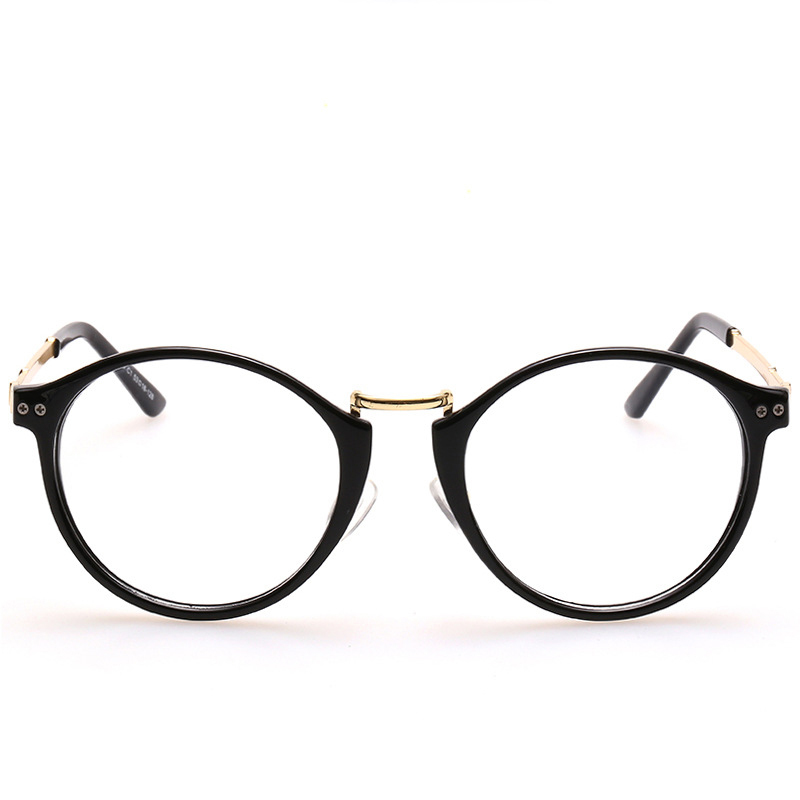 Women s Large Frame Reading Glasses : Men women big frame plain glasses full frame legs flat ...