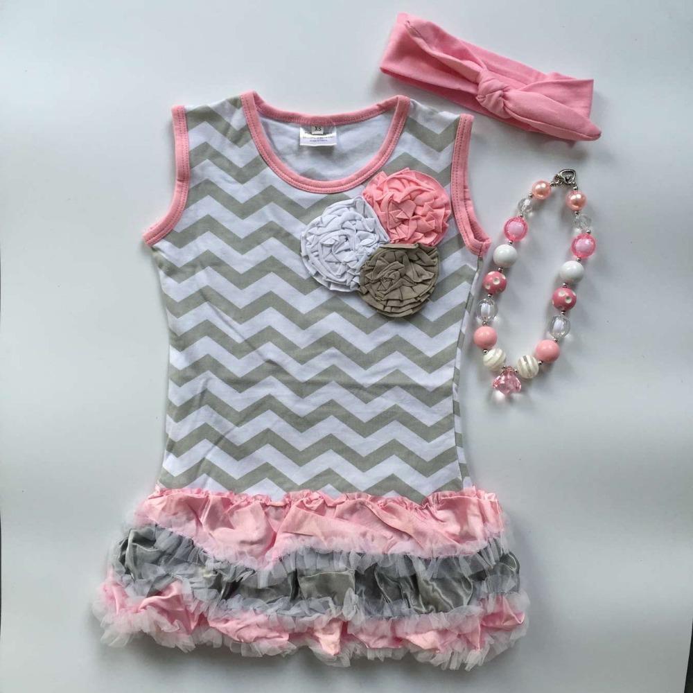 2015 new hot seller young girls yellow  chevron dress pink chervon dress girls ruffle dress teenage girls dress