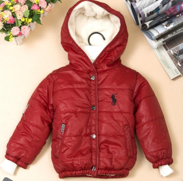 Retail Low Price Hight Quality Children Winter Hooded Coat POLO Boy Warm Jacket Kids Outwear Cotton-padded boy - xiaoshuai gan's store